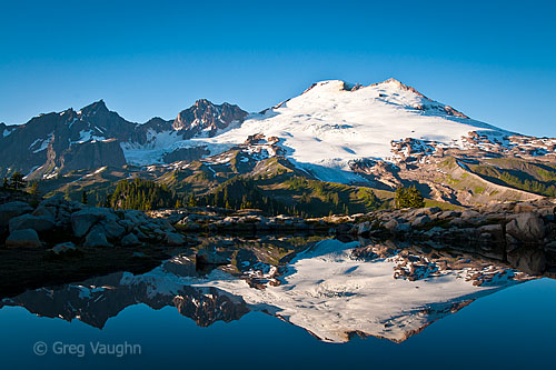 Mount Baker and reflection in an alpine tarn